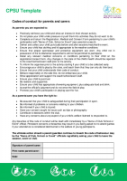 Parents Carers Code Of Conduct