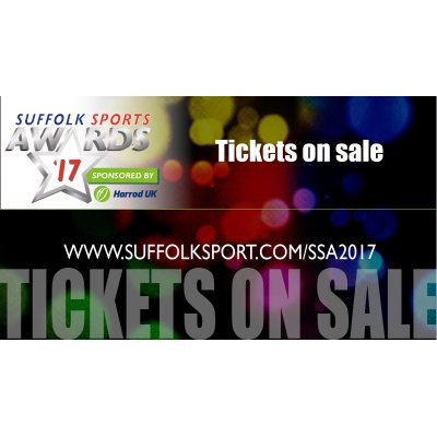 Tickets are on sale for the Suffolk Sports Awards at Kesgrave Hall