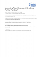 How Can I Increase my Chances of Receiving Further Funding