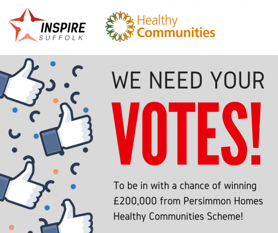 Help Inspire Suffolk win national vote to win £200,000!