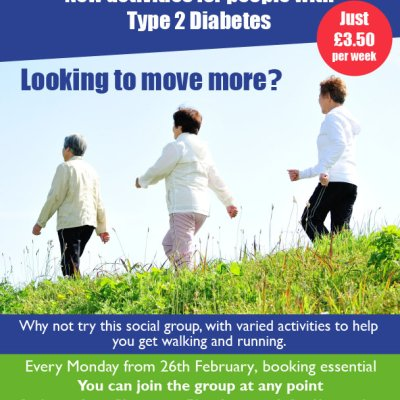Get Help to Get Moving for people with Type 2 Diabetes in Lowestoft