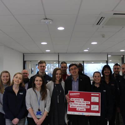 Suffolk Sport sign the pledge to change how we all think and act about mental health