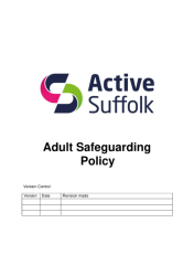 Active Suffolk Adult Safeguarding Policy and Procedures July 2019