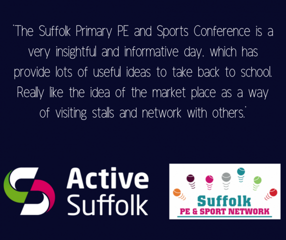 LAST CHANCE FOR EARLY BIRD TICKETS FOR THE SUFFOLK PRIMARY PE AND SPORTS CONFERENCE