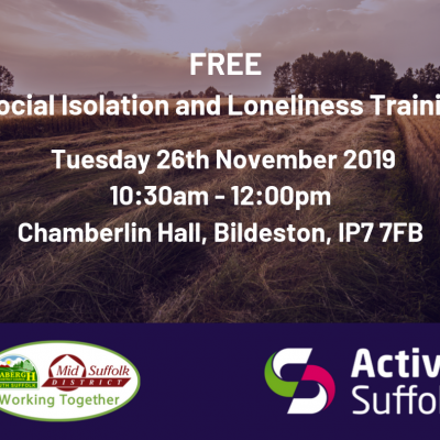 FREE SOCIAL ISOLATION & LONELINESS TRAINING IN SUFFOLK