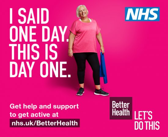 The NHS Better Health campaign, supporting you to be more active