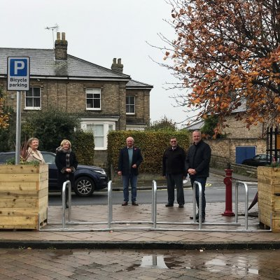 New cycle parking installed thanks to Government's Emergency Active Travel Fund