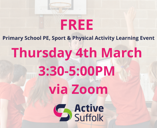 We are taking bookings for our next Primary School PE, Sport & Physical Activity Learning Event
