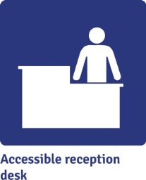 Accessible reception desk