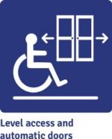 Image: Level access and automatic doors