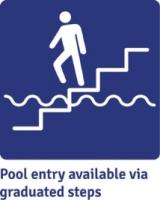 Image: Pool entry available via graduated steps