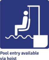 Pool entry available via hoist