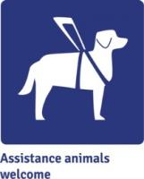 Assistance animals welcome