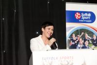 Image: Tracey Loynds opens the Suffolk Sports Awards