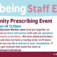 Community Prescribing Staff Event