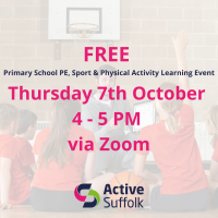 Suffolk's Primary School PE, School Sport & Physical Activity Learning Event October 2021