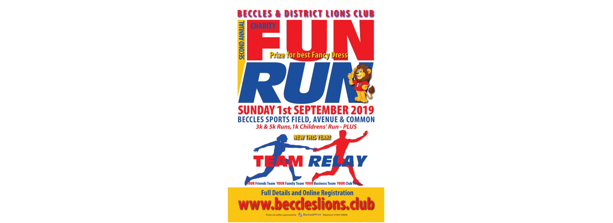 Beccles and District Lions Charity Fun Run Banner